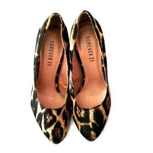 Forever 21 Leopard Print High Heels